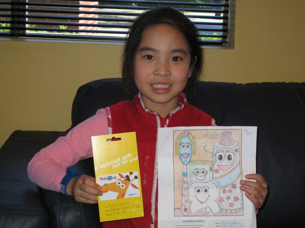 Grand Prize Winner of Avalon Dental Coloring Contest